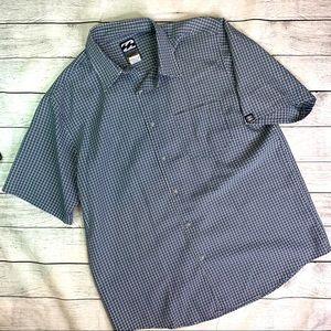 Billabong Spec 73 Blue Check Shirt Cooling Medium